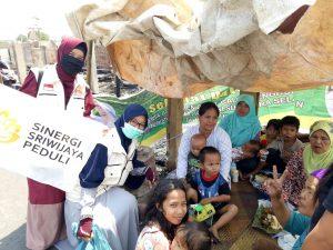 Daerah Sungki Palembang terkena musibah Kebakaran, Relawan Sinergi Sriwijaya Peduli langsung turun ke lokasi