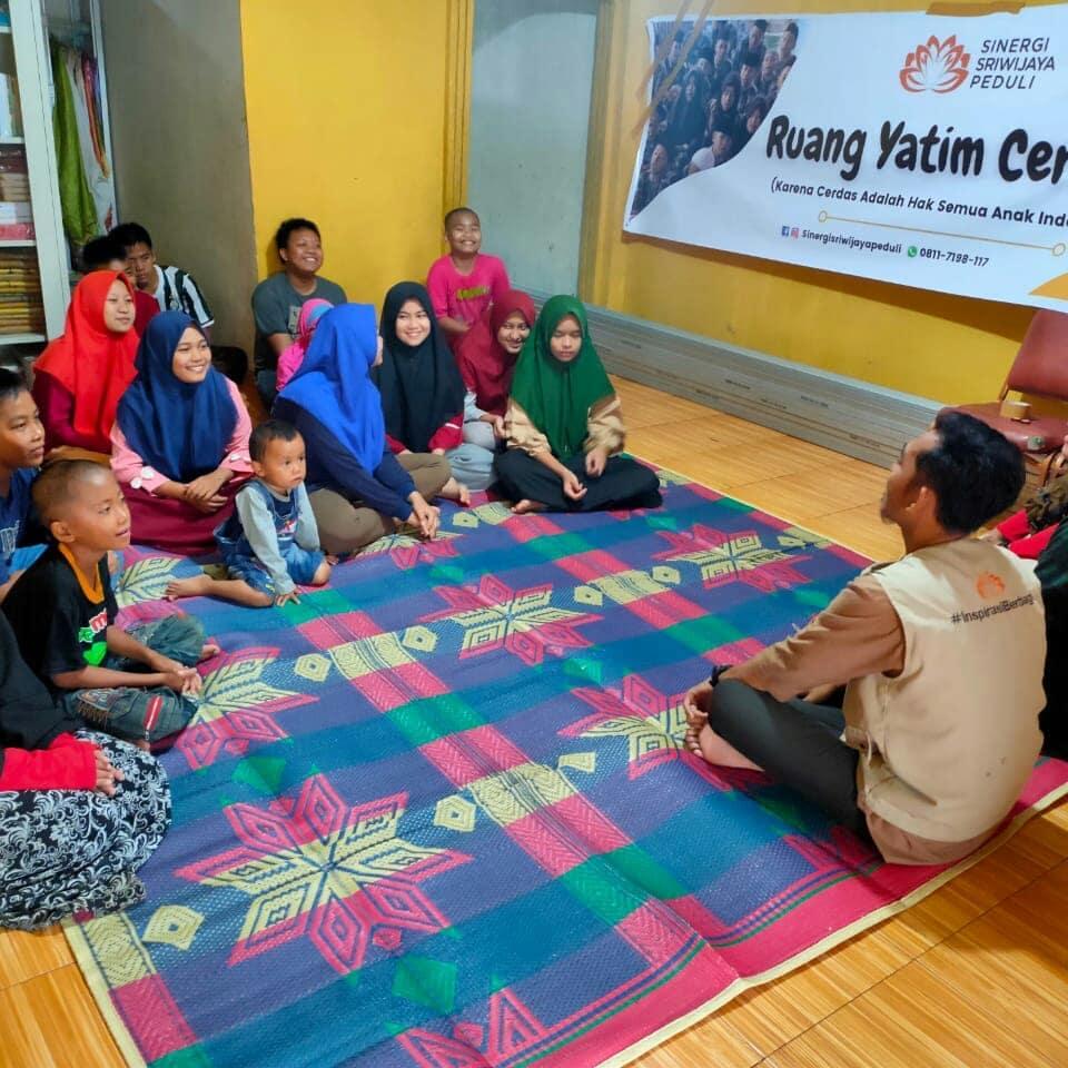 Sinergi Sriwijaya Peduli Lanching Ruang Yatim Cerdas untuk anak yatim Palembang