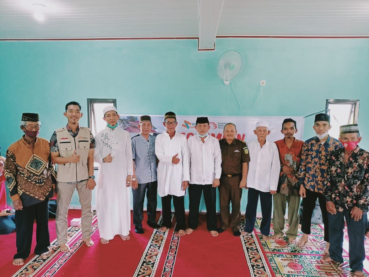 Donatur SS Peduli bangun kembali Masjid Al-Fattah, mendapat apresiasi dari Masyarakat Ogan Ilir